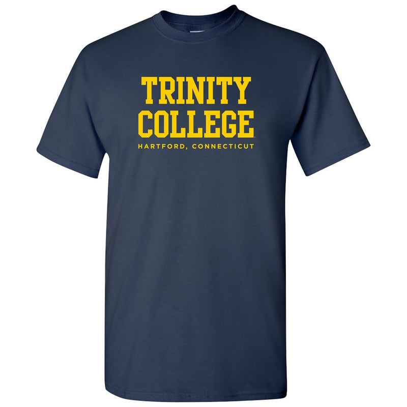 Trinity College Bantams Basic Block Cotton Short Sleeve T Shirt - Navy