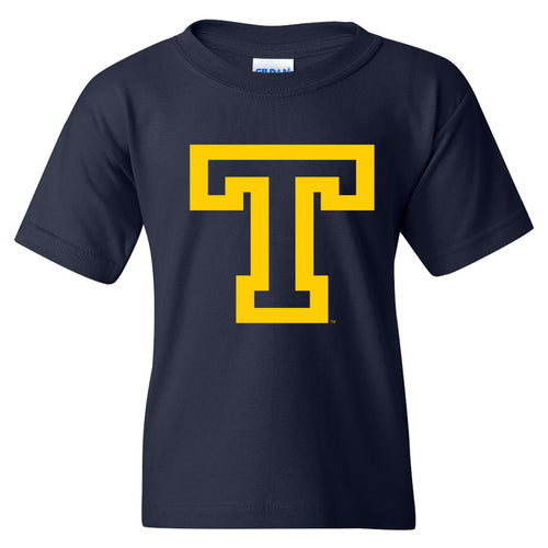 Trinity College Primary Logo  Basic Cotton Youth Short Sleeve T Shirt - Navy