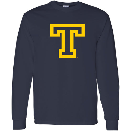 Trinity College Bantams Primary Logo Basic Cotton Long Sleeve T Shirt - Navy