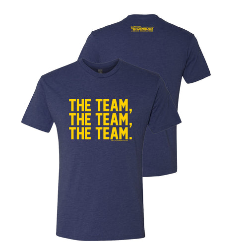 Bo Schembechler The Team The Team The Team Next Level T-Shirt - Vintage Navy