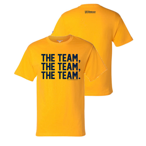 Bo Schembechler The Team The Team The Team Champion T-Shirt - Gold