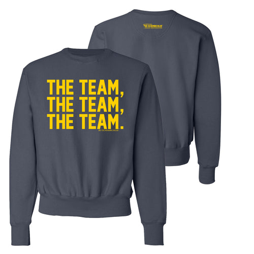 Bo Schembechler The Team The Team The Team Champion Reverse Weave Crew - Navy