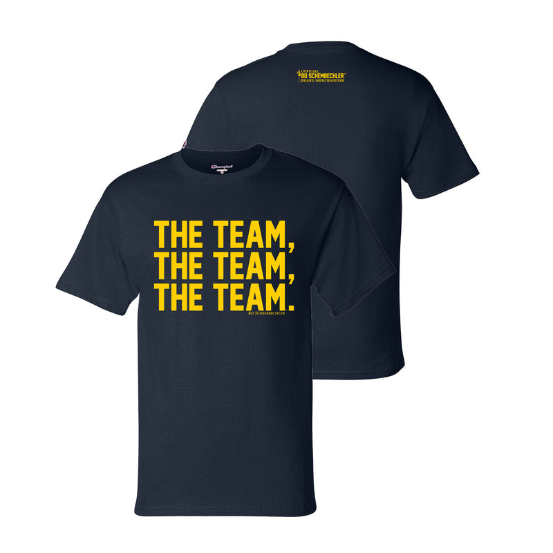 Bo Schembechler The Team The Team The Team Champion T-Shirt - Navy