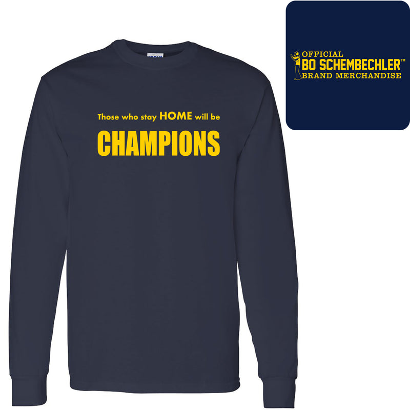 Those Who Stay Home Classic Long Sleeve - Navy