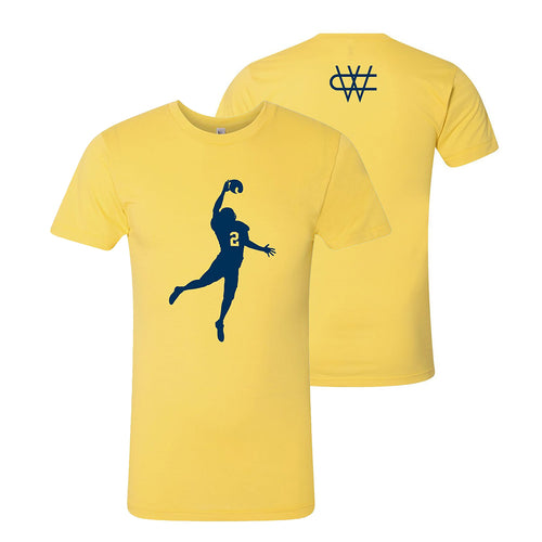 Charles Woodson The Pick University of Michigan American Apparel Poly-Cotton Short Sleeve T Shirt - Maize
