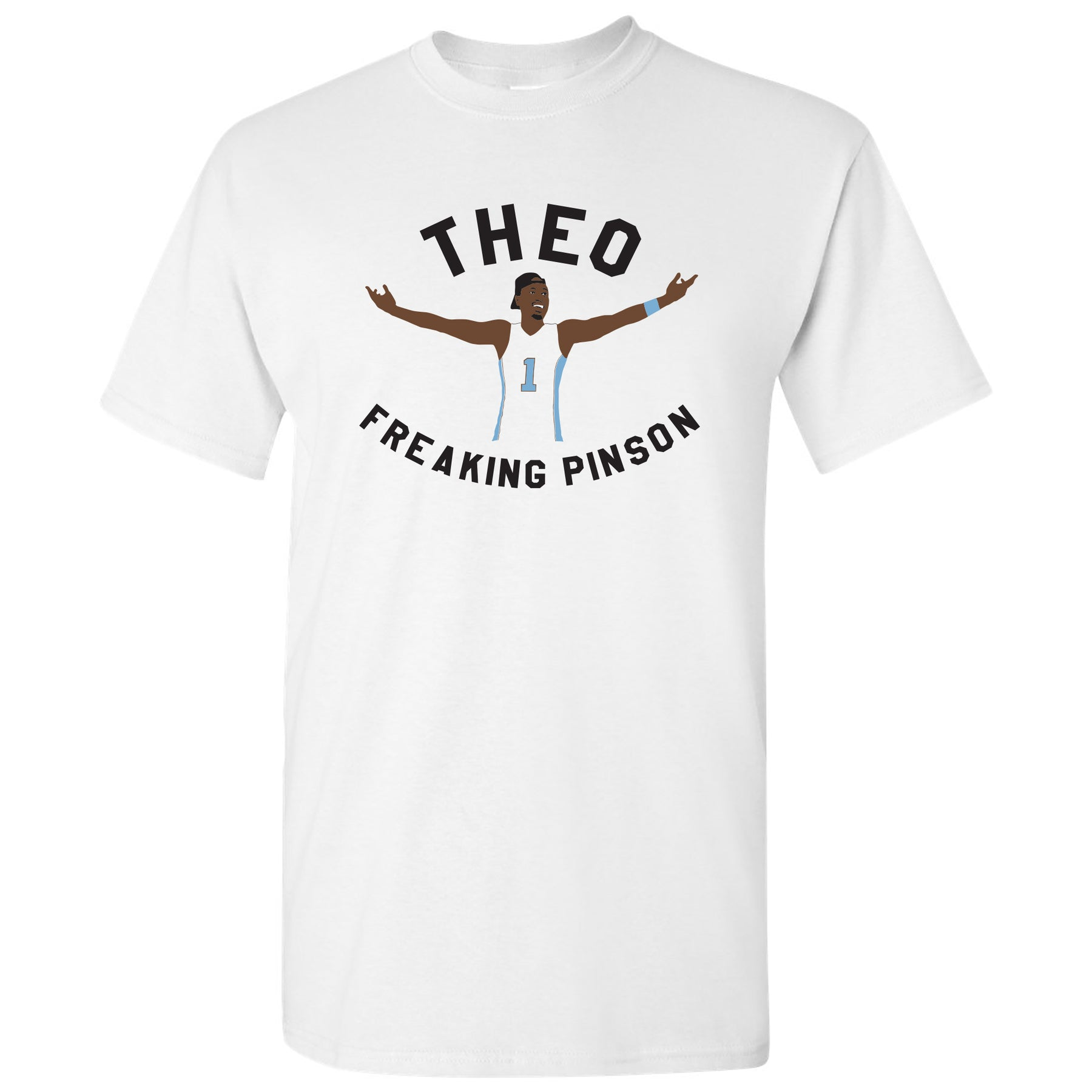 the best attitude 9034b 31bfe Theo Freaking Pinson T Shirt - White