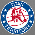 Detroit Mercy Vintage Titan Territory BBall - Athletic Grey