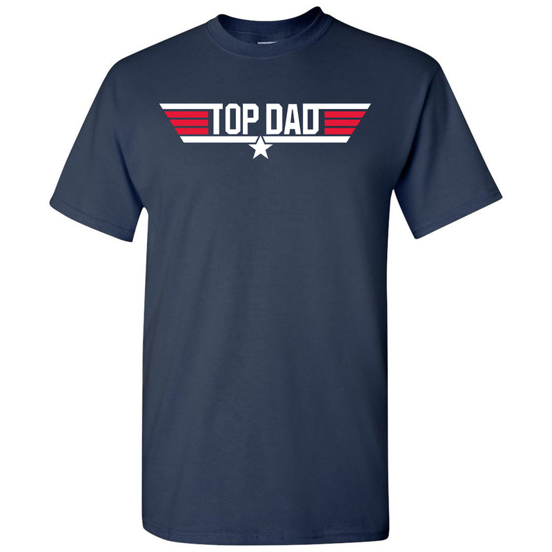 Top Dad - Papa, Pops, Grandfather - Adult Cotton T-Shirt - Navy