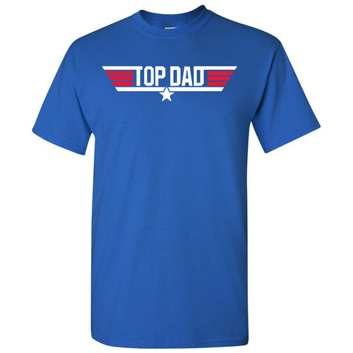 Top Dad - Papa, Pops, Grandfather - Adult Cotton T-Shirt - Royal