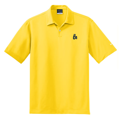 Bo Sig Nike Dri-FIT Pebble Texture Polo - Tour Yellow