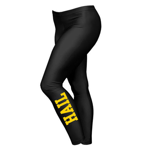 Block Hail University of Michigan American Apparel Nylon Tricot Leggings - Black