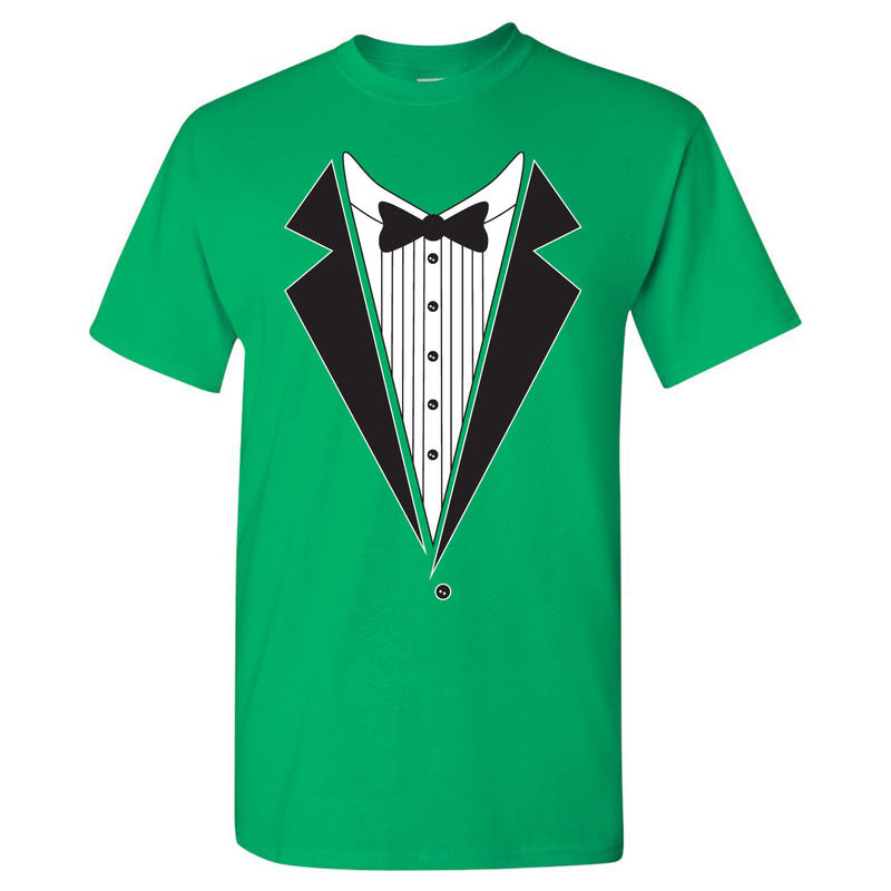 Tuxedo Shirt - Funny Party T-Shirt - Irish Green