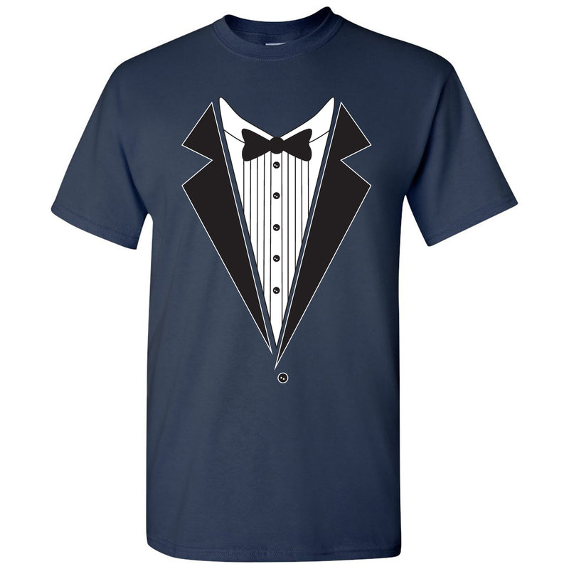 Tuxedo Shirt - Funny Party T-Shirt - Navy