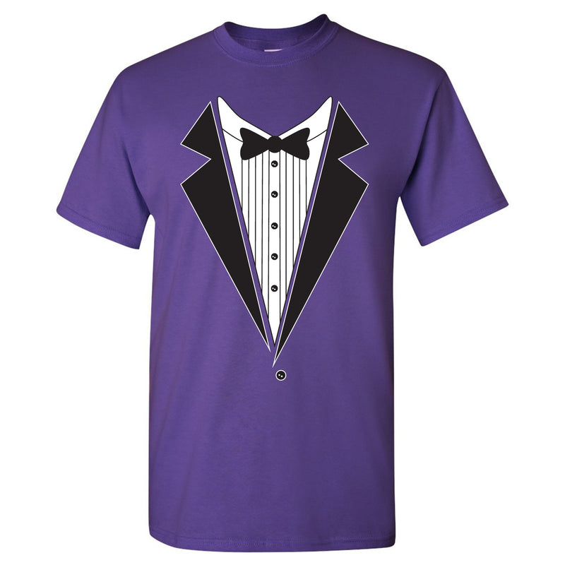 Tuxedo Shirt - Funny Party T-Shirt - Purple