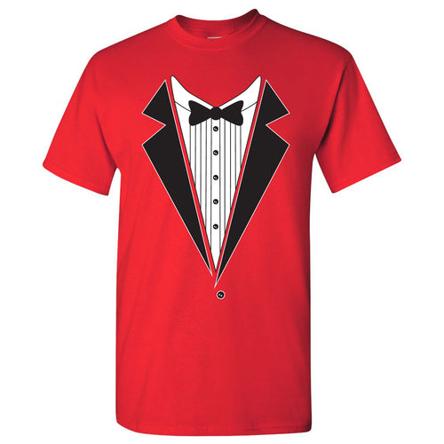 Tuxedo Shirt - Funny Party T-Shirt - Red