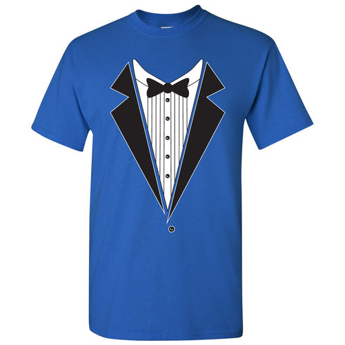 Tuxedo Shirt - Funny Party T-Shirt - Royal