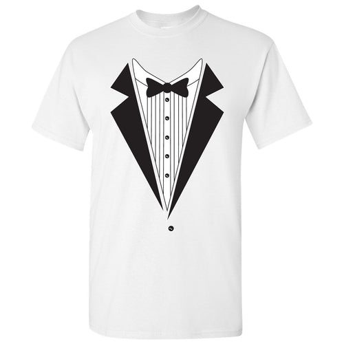 Tuxedo Shirt - Funny Party T-Shirt - White