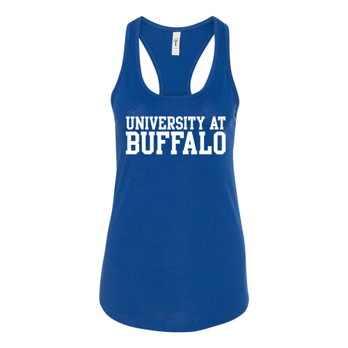 Buffalo Basic Block Womens Racerback Tank - Royal