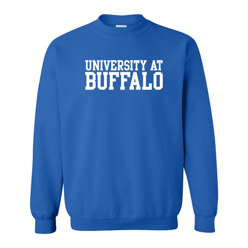 University at Buffalo Bulls Basic Block Crewneck Sweatshirt - Royal