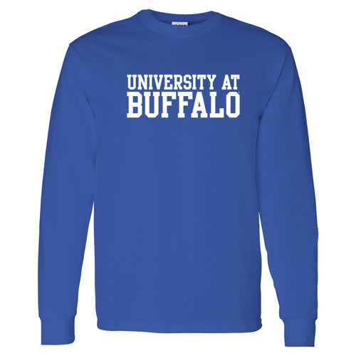 University at Buffalo Bulls Basic Block Long Sleeve T-Shirt - Royal
