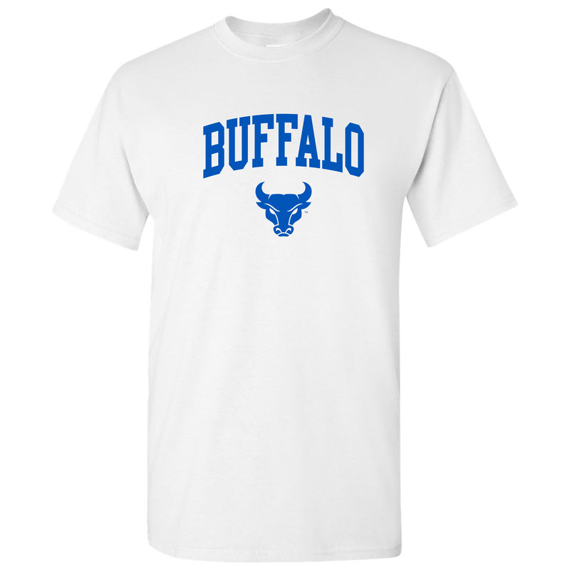 University at Buffalo Bulls Arch Logo Short Sleeve T Shirt - White