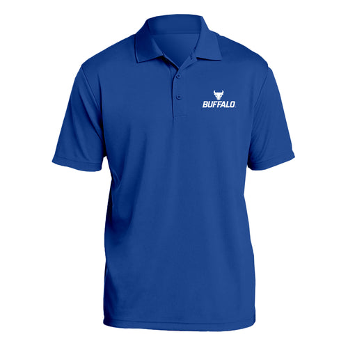 University at Buffalo Bulls Primary Logo Left Chest Polo - Royal