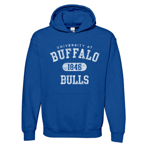 University at Buffalo Bulls Athletic Arch Heavy Blend Hoodie - Royal