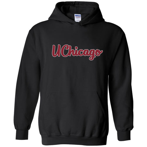 University of Chicago Maroons Basic Script Heavy Blend Hoodie - Black