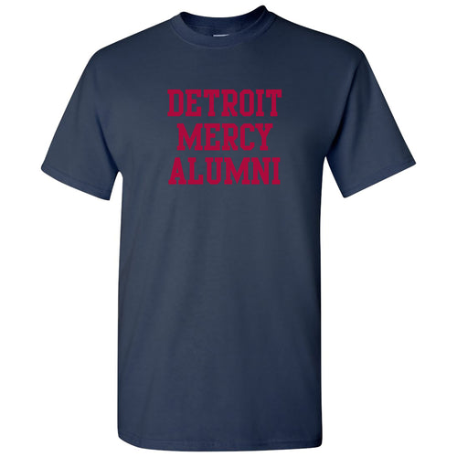 University Of Detroit Mercy Titans Basic Block Alumni Short Sleeve T Shirt - Navy