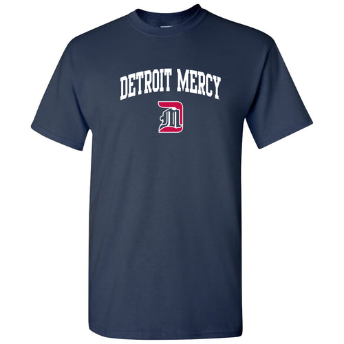 University Of Detroit Mercy Titans Arch Logo Short Sleeve T Shirt - Navy