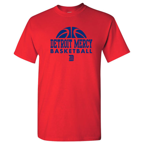 University Of Detroit Mercy Titans Basketball Hype Short Sleeve T Shirt - Red
