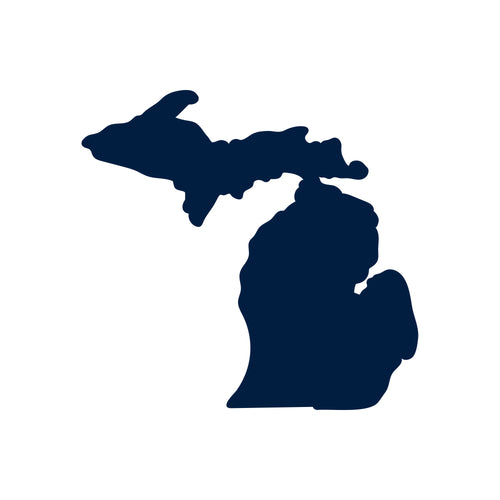 "Michigan Silhouette Vinyl Decal 3""w - Navy"