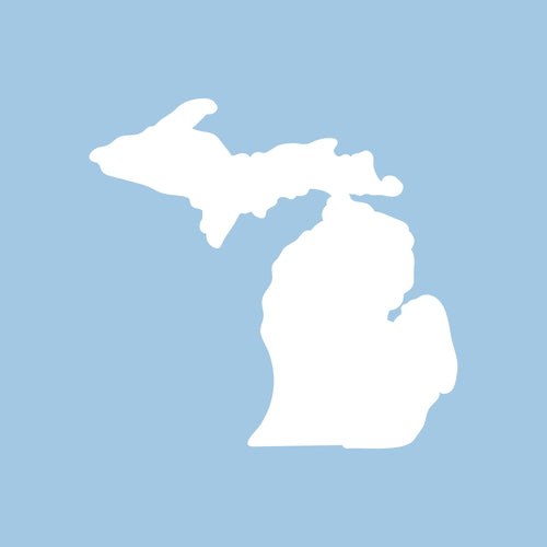 "Michigan Silhouette Vinyl Decal 3""w - White"