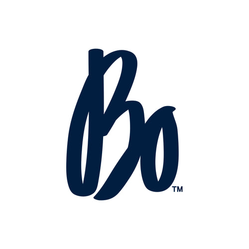 "Bo Schembechler Signature Vinyl Decal 4""h - Navy"