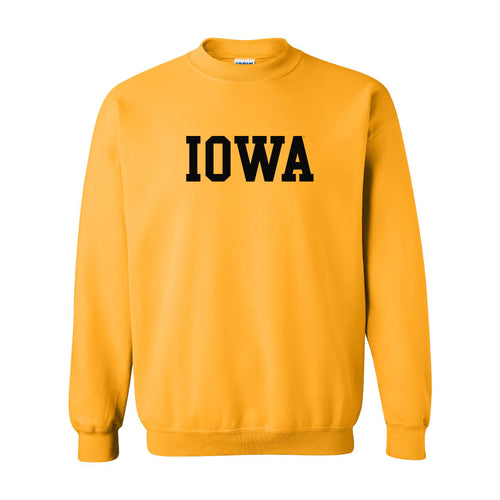 Iowa Basic Block Crewneck - Gold