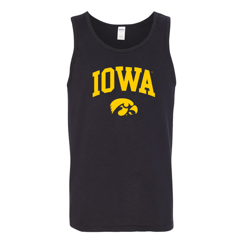 University of Iowa Hawkeyes Arch Logo Heavy Cotton Tank Top - Black