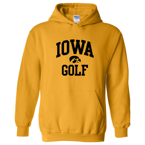University of Iowa Hawkeyes Arch Logo Golf Hoodie- Gold