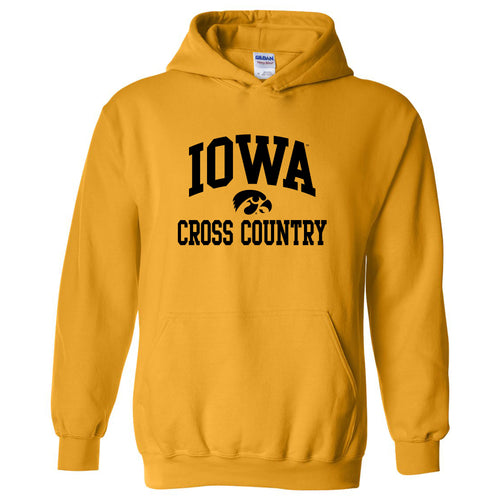 University of Iowa Hawkeyes Arch Logo Cross Country Hoodie - Gold