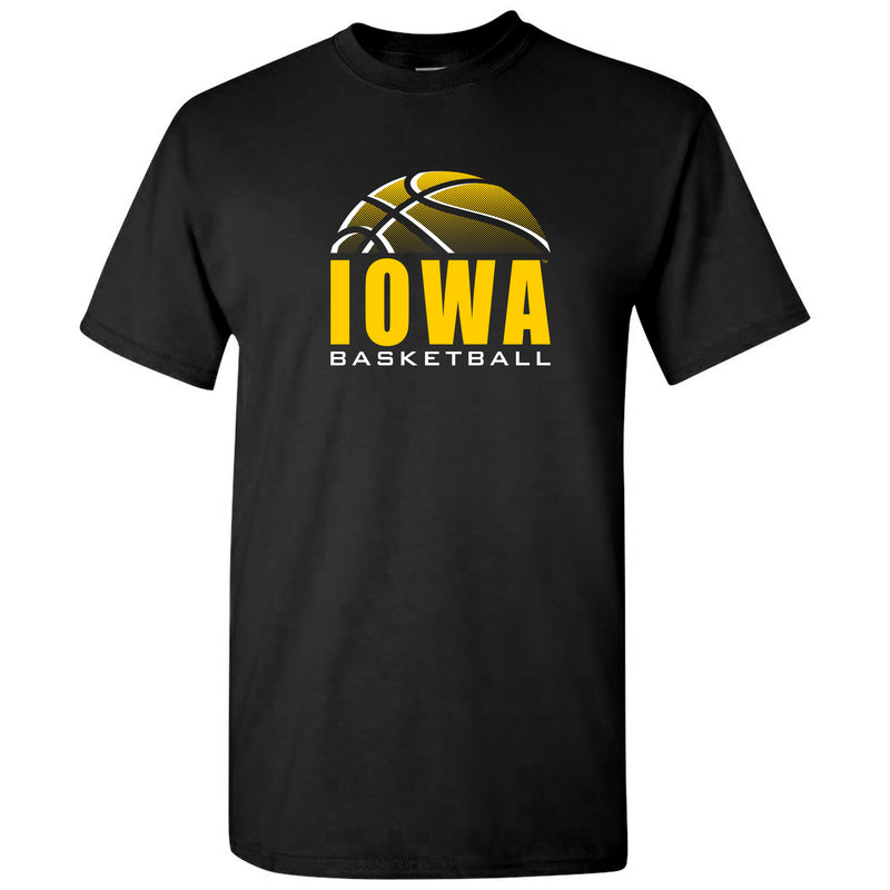 University of Iowa Hawkeyes Basketball Shadow Short Sleeve T Shirt - Black