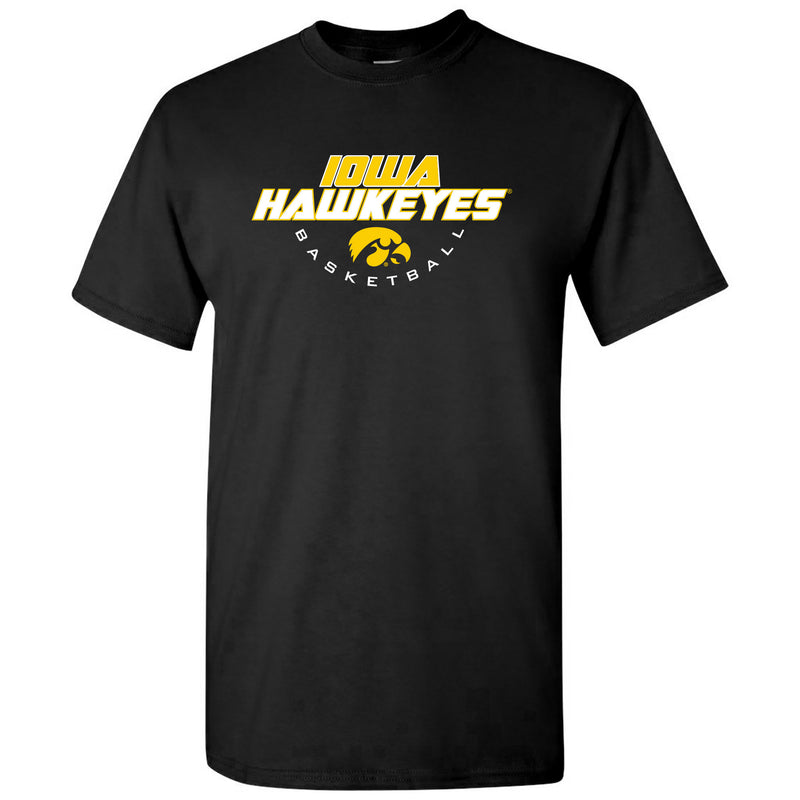 University of Iowa Hawkeyes Basketball Tech Short Sleeve T Shirt - Black