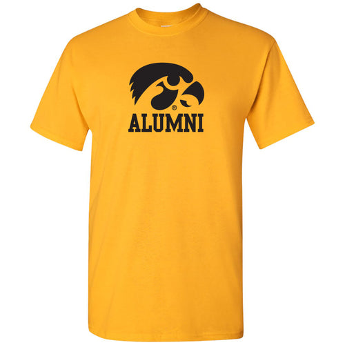 Primary Alumni Iowa Hawekyes Basic Cotton Short Sleeve T Shirt - Gold