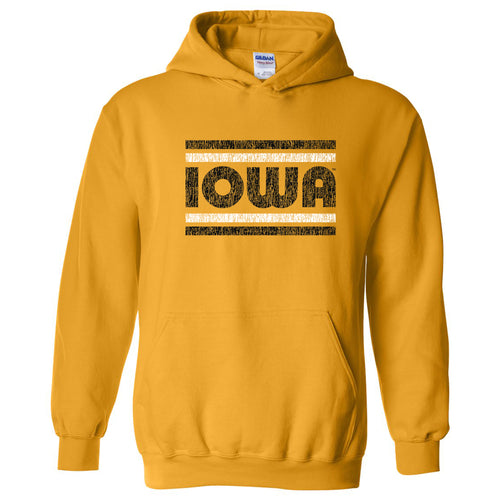 Iowa Hawkeyes Retro Underline Hoodie - Gold