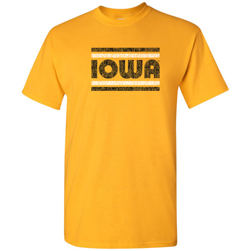 Iowa Hawkeyes Retro Underline T Shirt - Gold