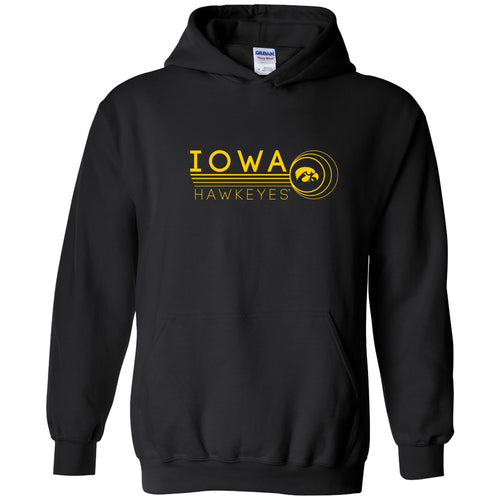 University of Iowa Hawkeyes Logo Ping Cotton Heavy Blend Hoodie - Black