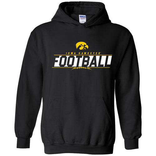 University Of Iowa Hawkeyes Football Charge Hoodie - Black