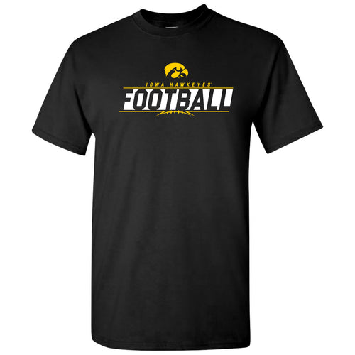 University of Iowa Hawkeyes Football Charge Short Sleeve T Shirt - Black