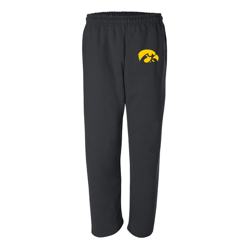 University of Iowa Hawkeye Logo Sweatpants - Black