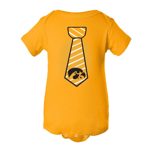Necktie Iowa Hawkeyes Rabbit Skins Infant Creeper - Gold