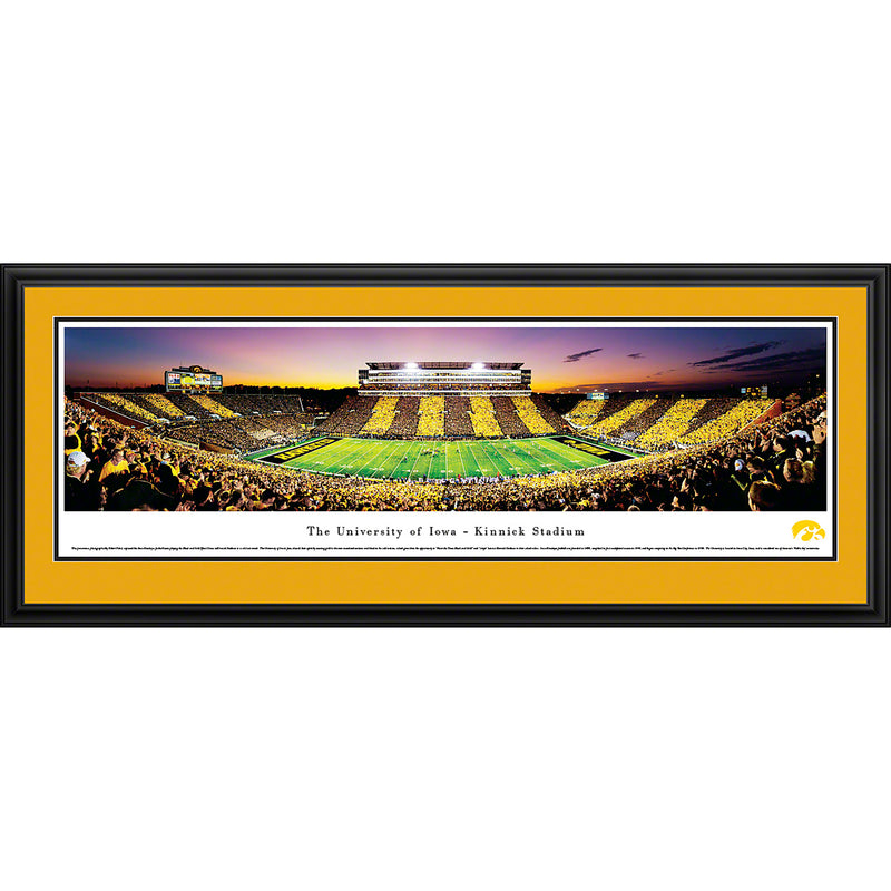 University of Iowa Hawkeyes Kinnick Stadium Sideline Stripe - Deluxe Frame