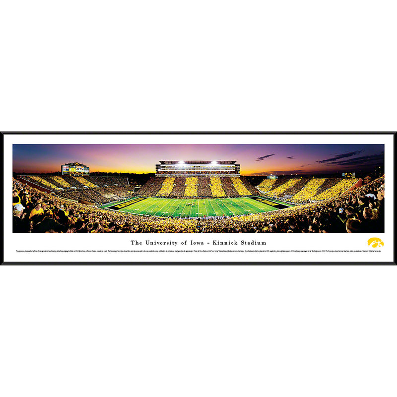 University of Iowa Hawkeyes Kinnick Stadium Sideline Stripe - Standard Frame